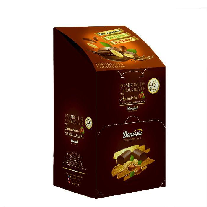 Bombom com Amendoim sem Açúcar / sem Lactose com 35 Unds Borússia Chocolates
