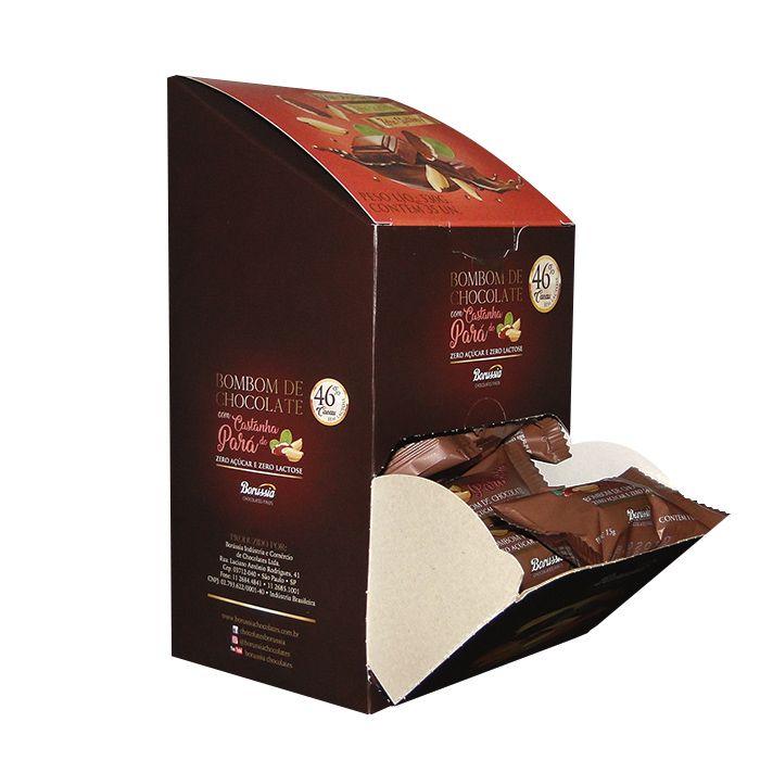 Bombom com Castanha do Pará sem Adição de Açúcar / sem Lactose com 35 Unds Borússia Chocolates