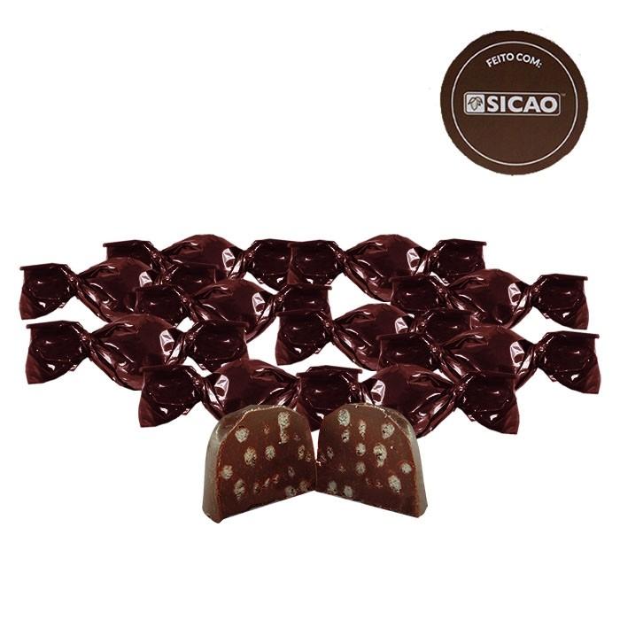 Bombom Maciço Crocante Chocolate ao leite com 500g Sicao