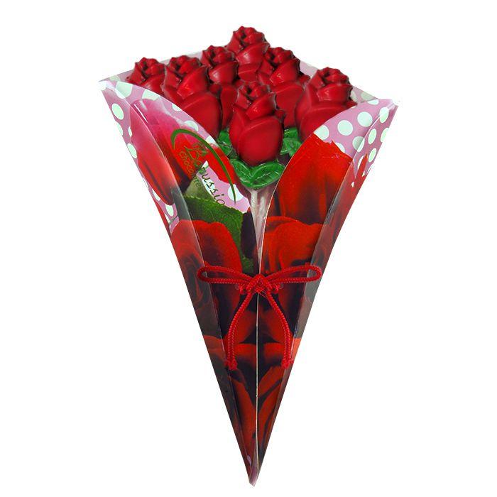 Buquê com Rosas de Chocolate Borússia Chocolates