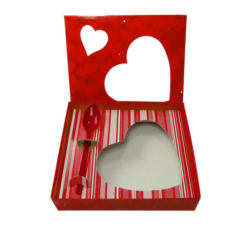 Caixa para Coração de Colher 500g Vermelha Kaixote