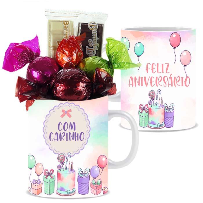 Caneca de Aniversário com Chocolates Tipo 1 Borússia Chocolates