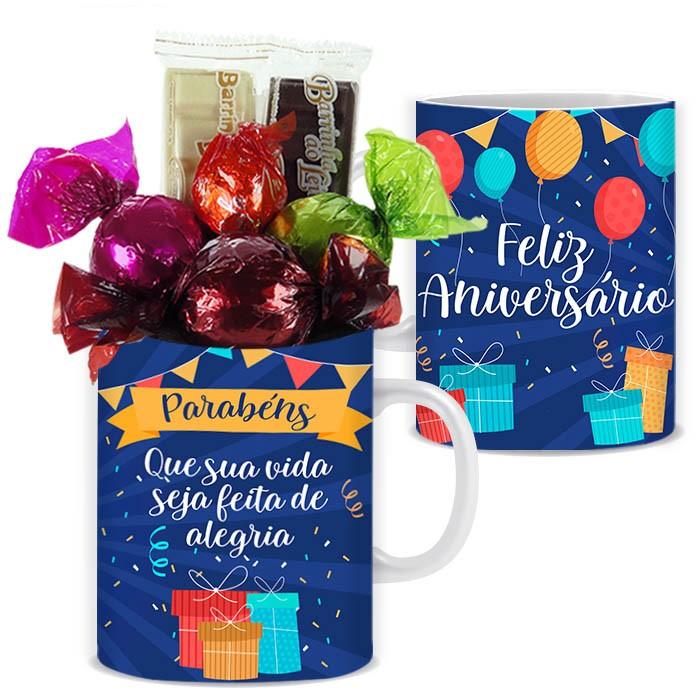 Caneca de Aniversário com Chocolates Tipo 5 Borússia Chocolates