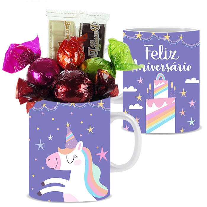 Caneca de Aniversário com Chocolates Tipo 7 Borússia Chocolates