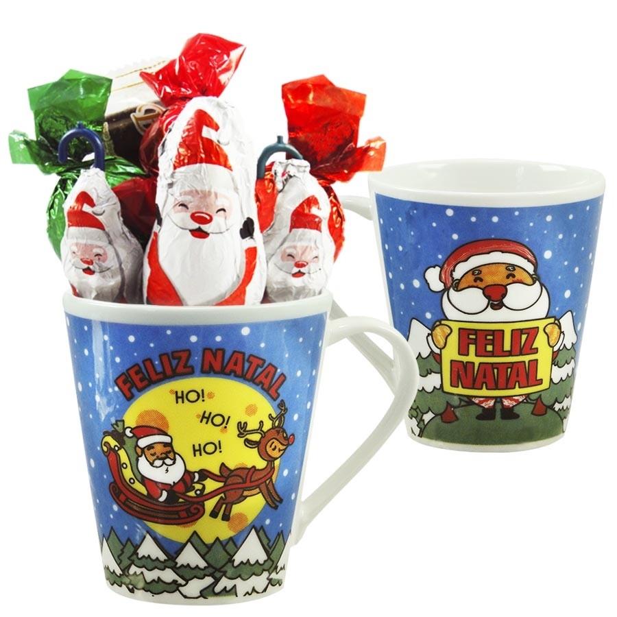 Caneca de Natal com Chocolates Modelo 2 Borússia Chocolates