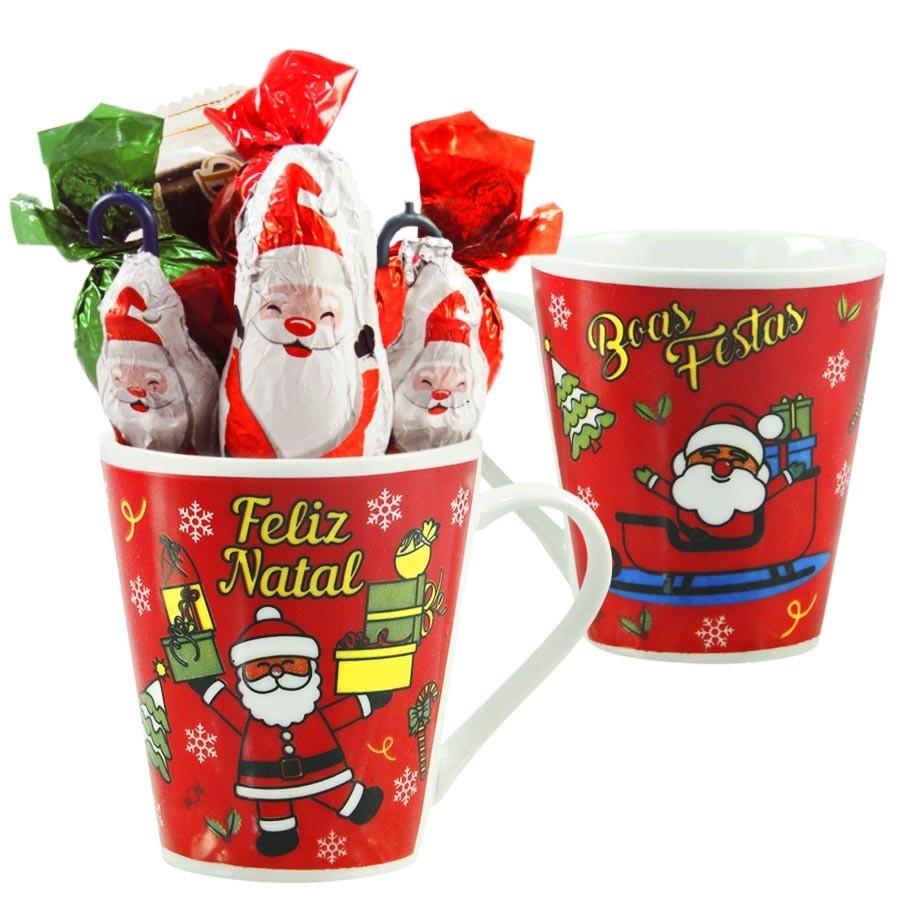 Caneca de Natal com Chocolates Modelo 3 Borússia Chocolates