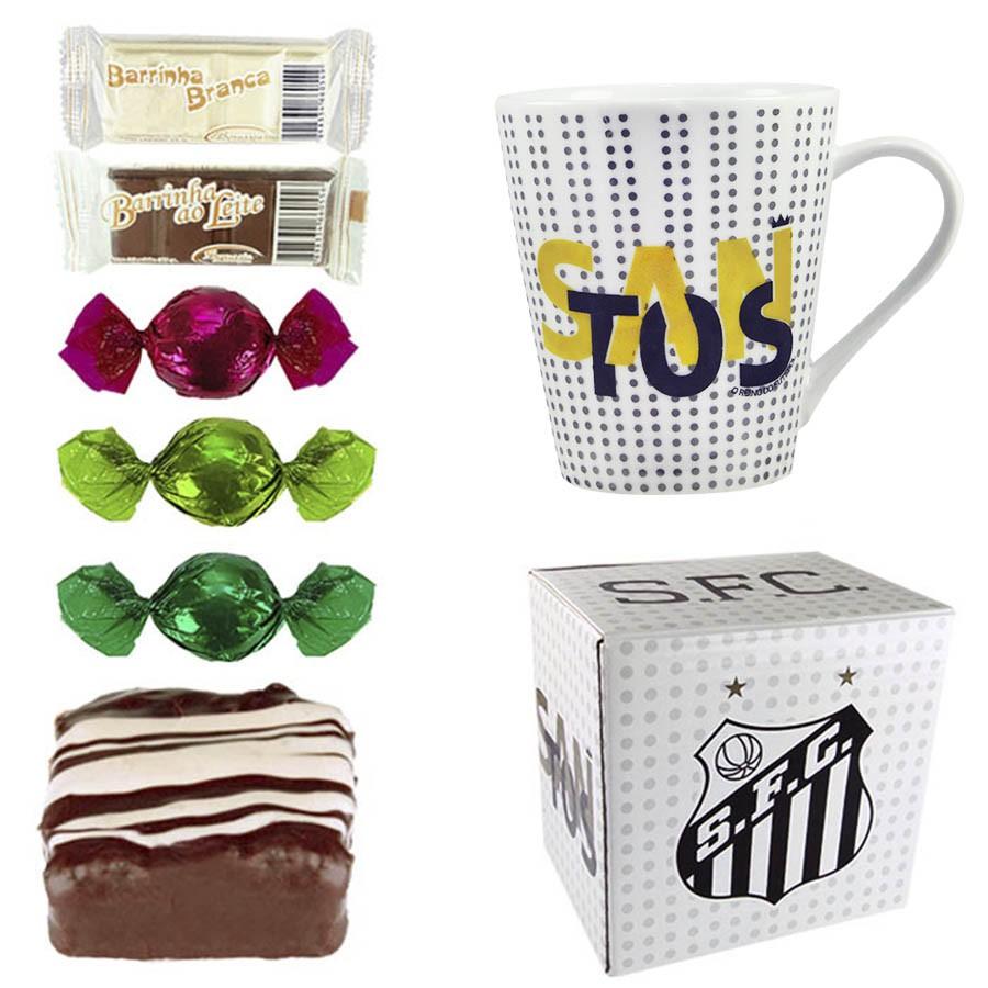 Caneca do Santos com Chocolates Borússia Chocolates