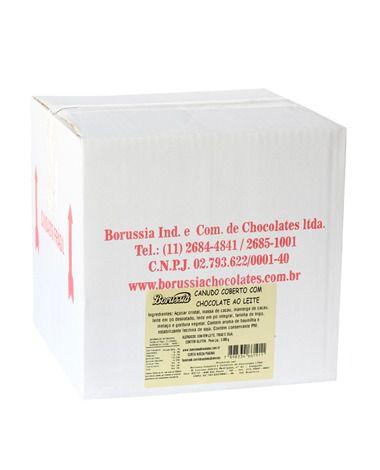 Canudo Coberto com Chocolate ao Leite Borússia Chocolates