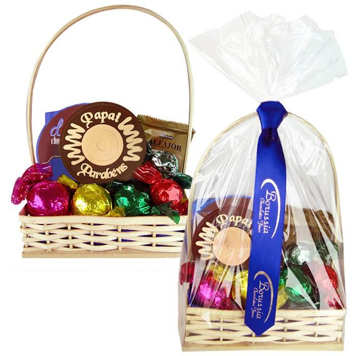 Cesta Dia dos Pais com Chocolates Variados Borússia Chocolates