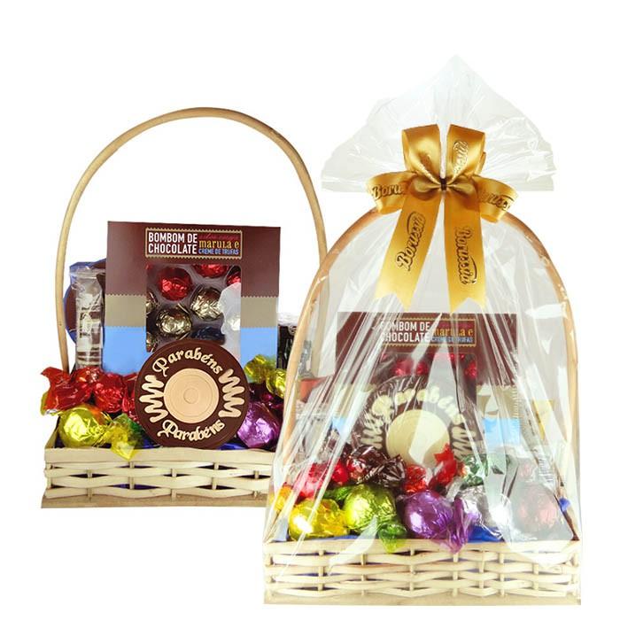 Cesta de Aniversário com Chocolates Borússia