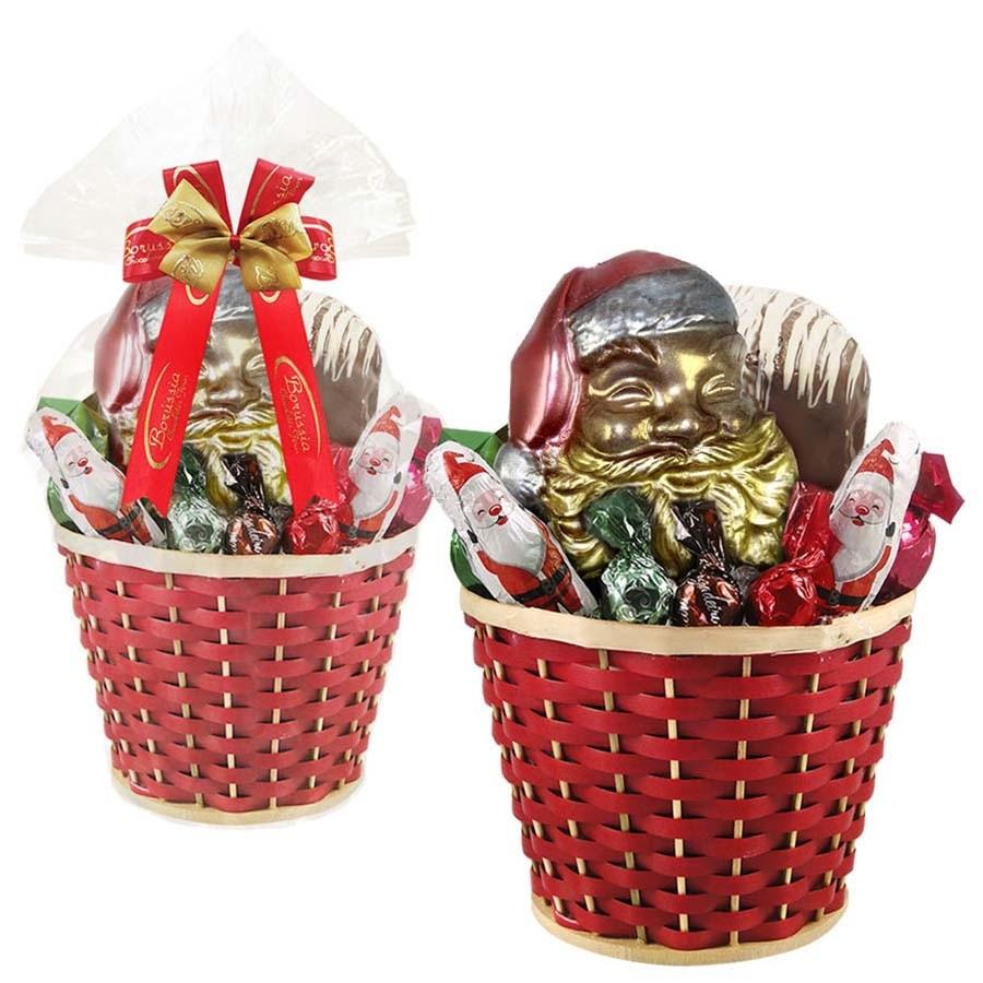 Cesta de Natal com Chocolates Borússia Chocolates