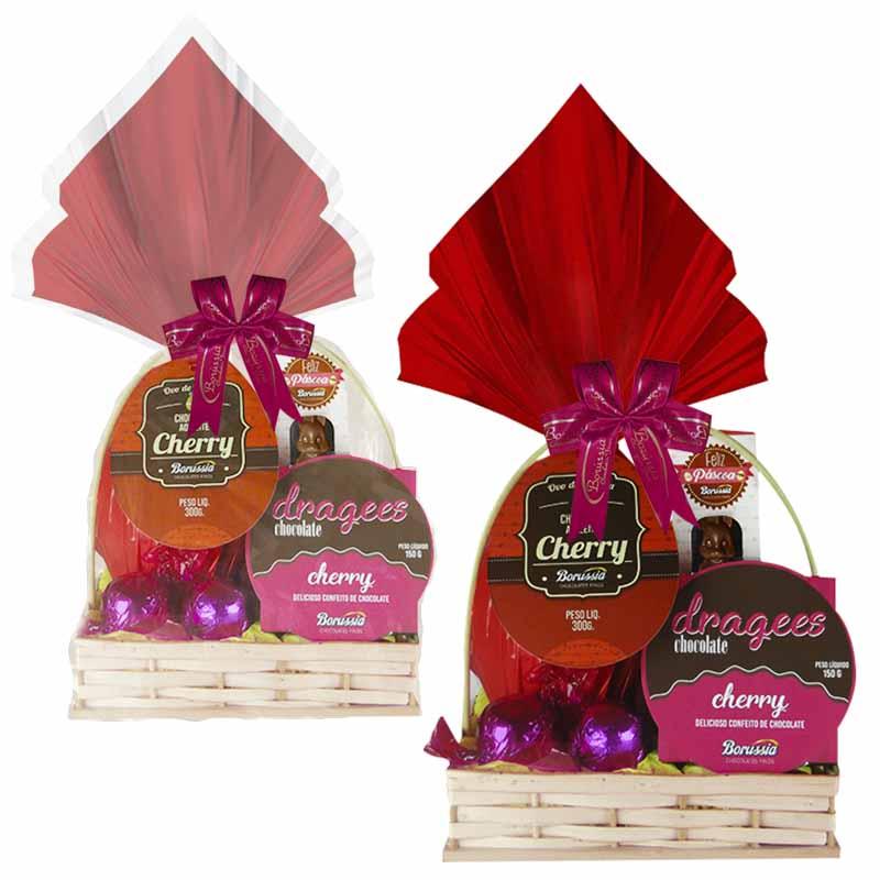 Cesta de Páscoa Cherry Borússia Chocolates