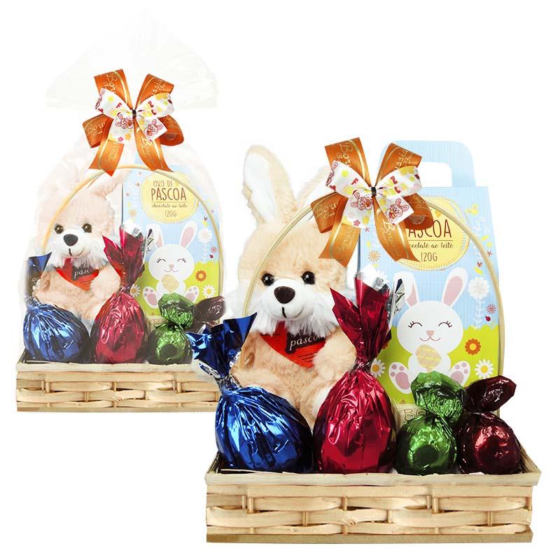 Cesta de Páscoa Infantil Decorada Borússia Chocolates