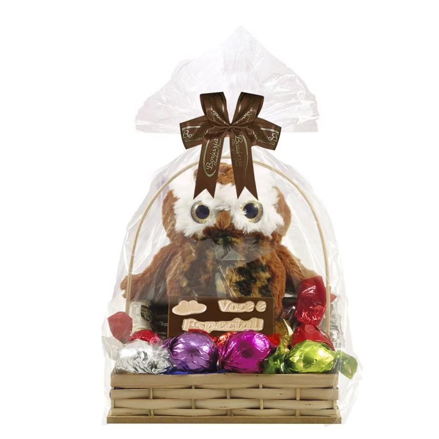 Cesta Dia dos Professores com Chocolates Modelo 1 Borússia Chocolates