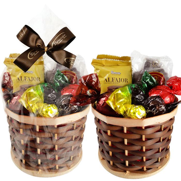 Cestinha de Chocolates Variados Borússia Chocolates