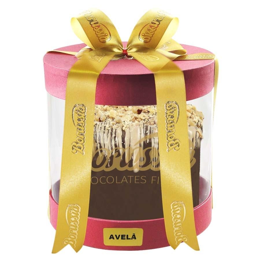 Chocotone Trufado com Creme de Avelã com 900g Borússia Chocolates