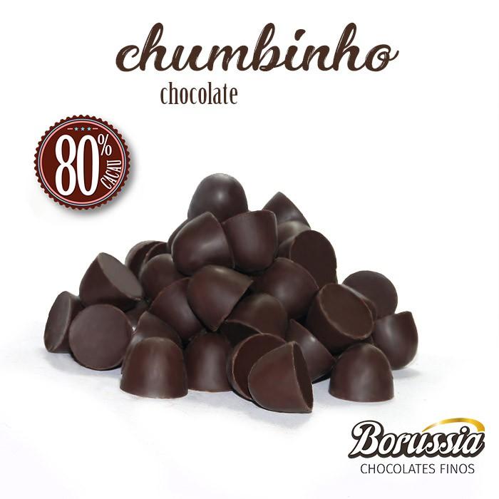 Chumbinho Chocolate 80% Cacau Borússia Chocolates