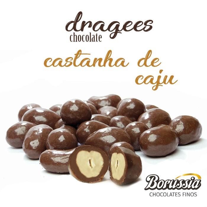 Confeito Castanha de Cajú Borússia Chocolates