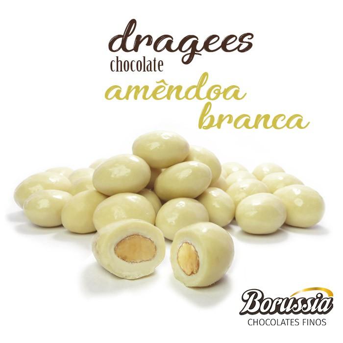 Confeito de Amêndoa Branca Borússia Chocolates