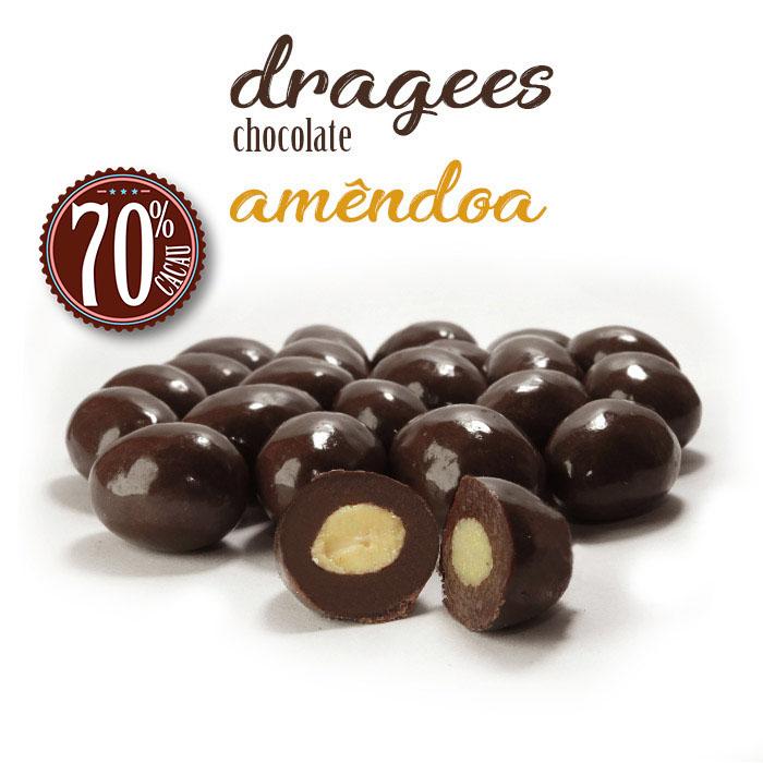 Confeito de Amêndoa com Chocolate 70% Cacau Borússia Chocolates