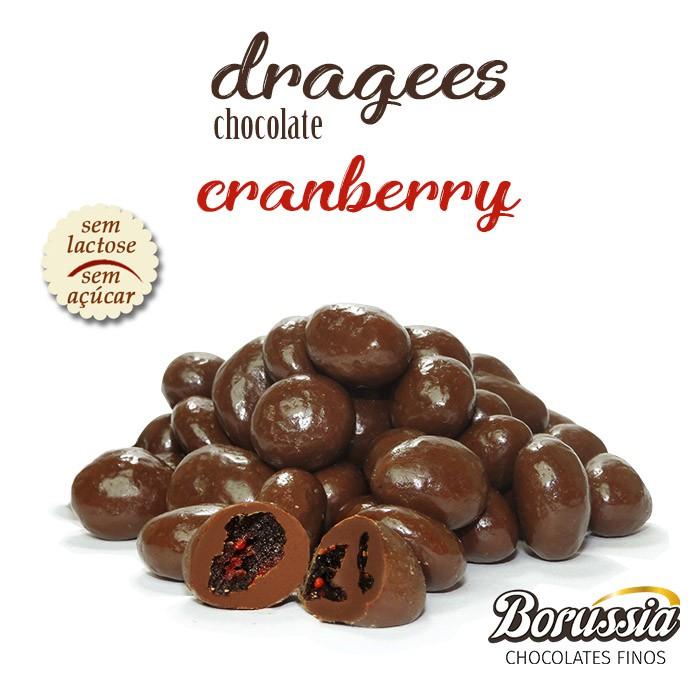 Confeito de Cranberry sem Adição de Açúcar / sem Lactose Borússia Chocolates