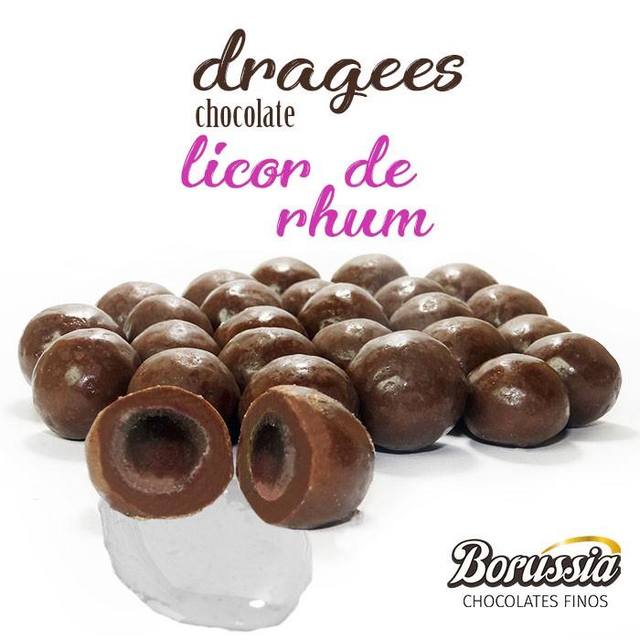 Confeito Licor de Rhum Borússia Chocolates
