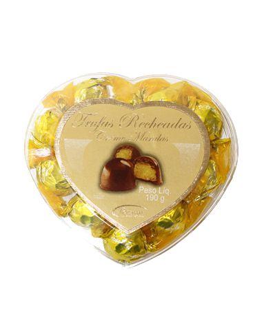 Coração Acrílico com Bombom de Marula 190g Borússia Chocolates