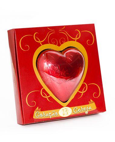 Coração Caixa Vazada Pequena 165g Borússia Chocolates
