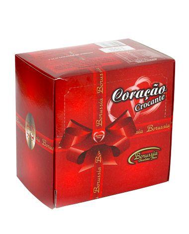 Coração Crocante Display (24 Uni.) Borússia Chocolates