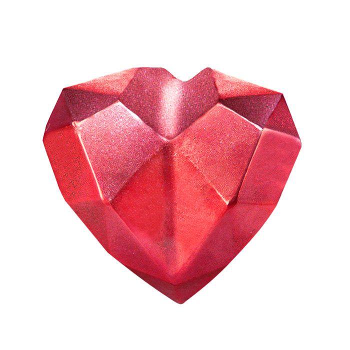 Coração de Diamante com Chocolate Belga Recheio de Brigadeiro com Cookies 200g Borússia Chocolates