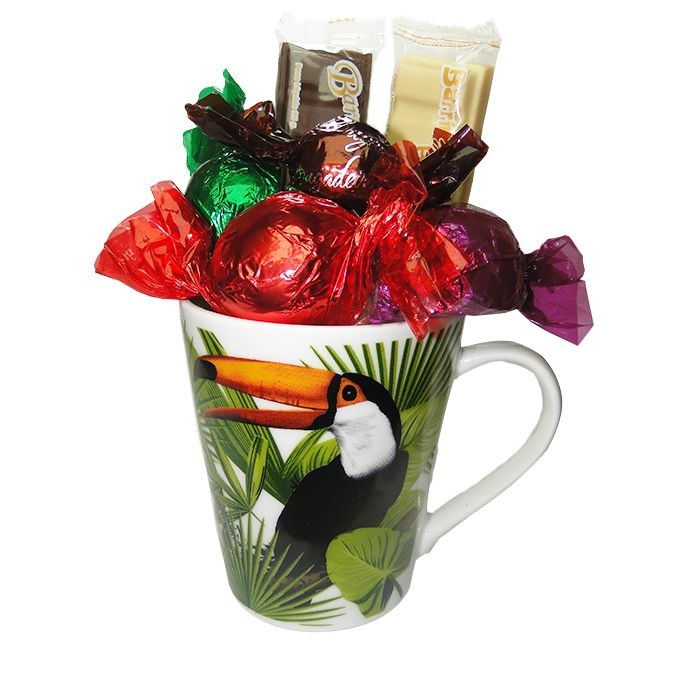 Kit Caneca com Chocolate Tema Natureza 1 Borússia Chocolates