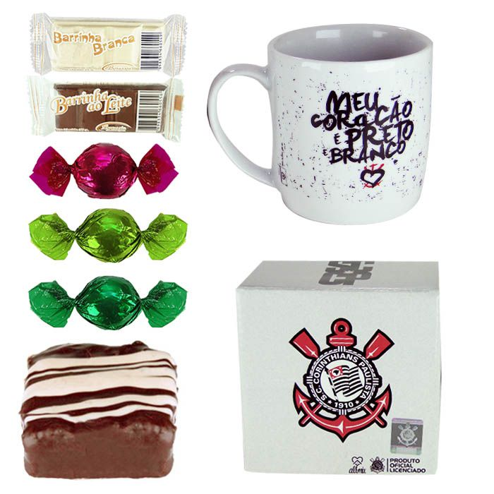 Caneca do Corinthians com Chocolates Borússia Chocolates