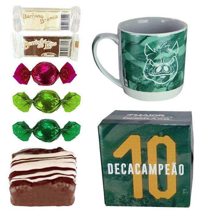 Caneca do Palmeiras com Chocolates Borússia Chocolates