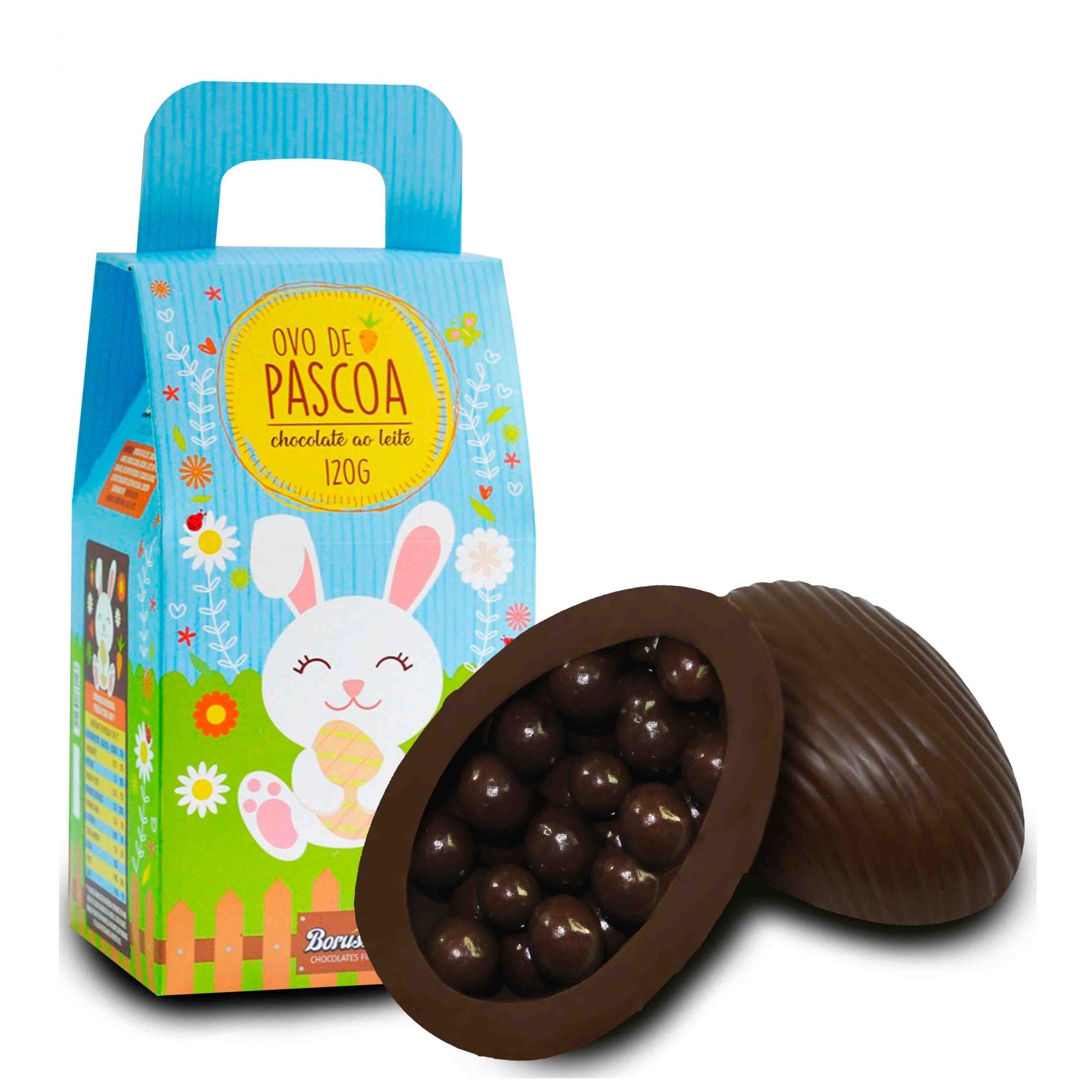 Kit de Páscoa com Chocolate Ao Leite 120g Borússia Chocolates
