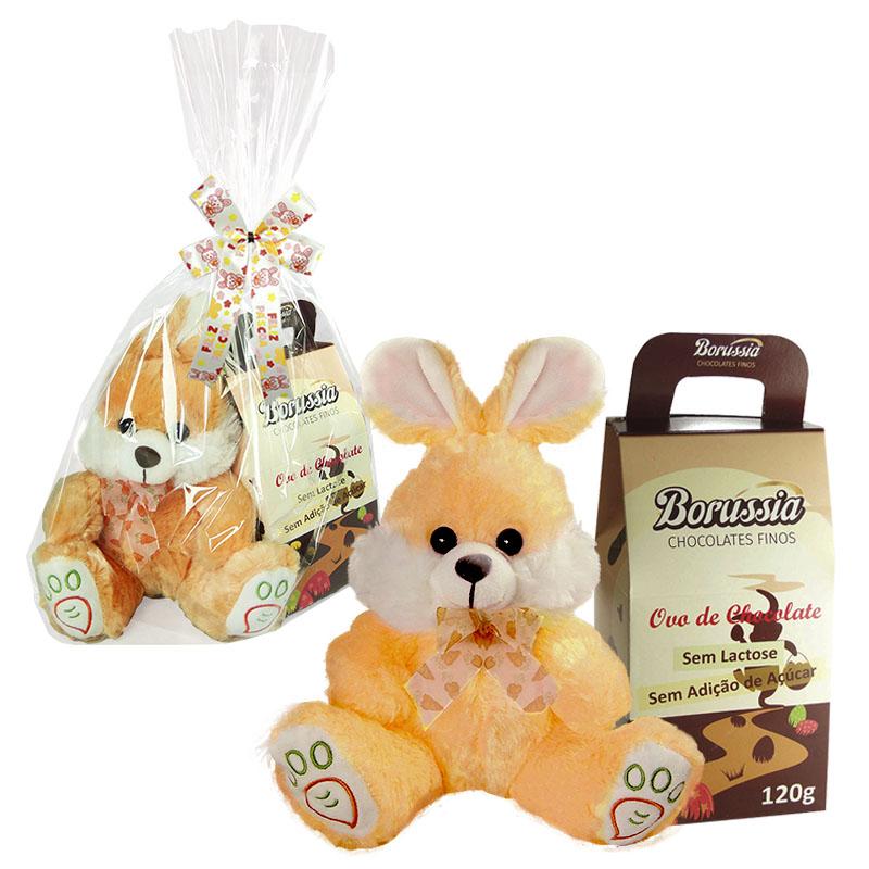 Kit de Páscoa com Chocolate sem Açúcar / sem Lactose 120g Borússia Chocolates