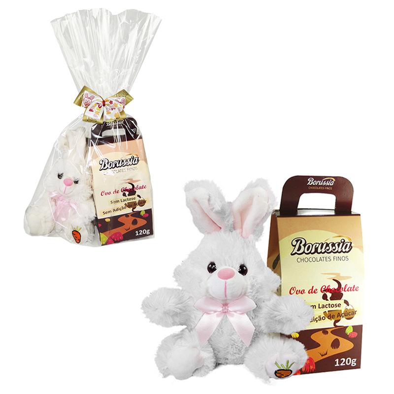 Kit de Páscoa Infantil Zero Açúcar e Zero Lactose Borússia Chocolates