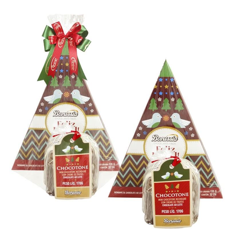 Kit Natalino 1 com Chocolates Borússia Chocolates