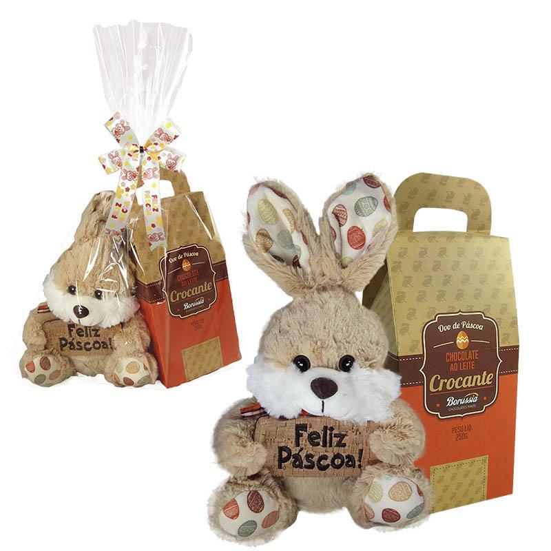 Kit Feliz Páscoa com Chocolate Crocante Borússia Chocolates