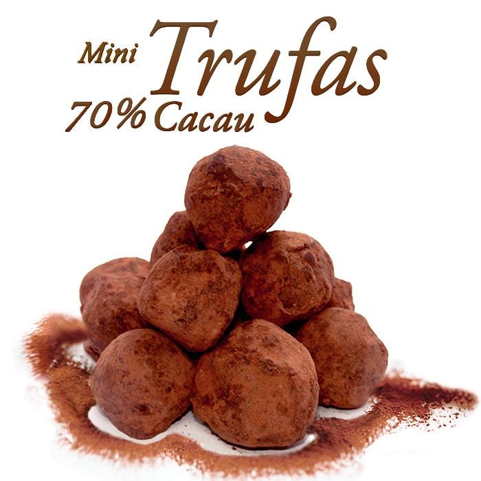 Mini Trufa Chocolate 70% Cacau Borússia Chocolates