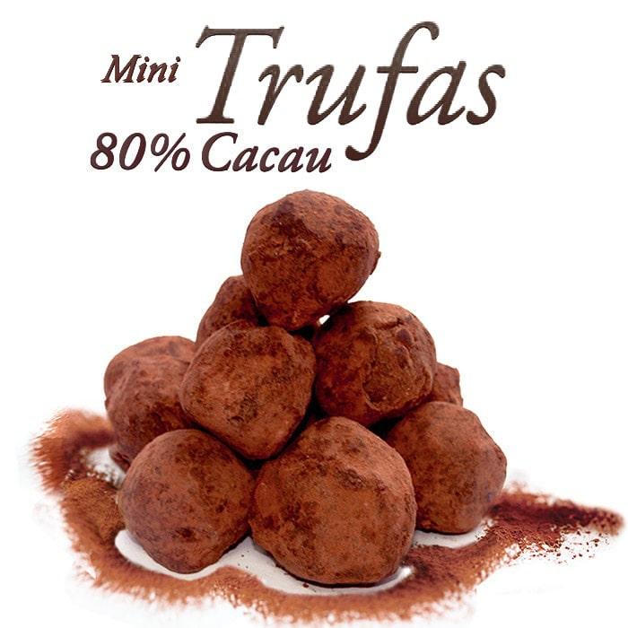 Mini Trufa Chocolate 80% Cacau 200g Borússia Chocolates