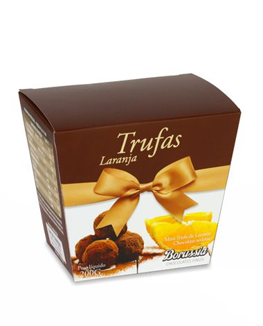 Mini Trufa sabor Laranja Borússia Chocolates