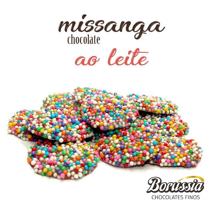 Missanga Chocolate ao Leite Borússia Chocolates