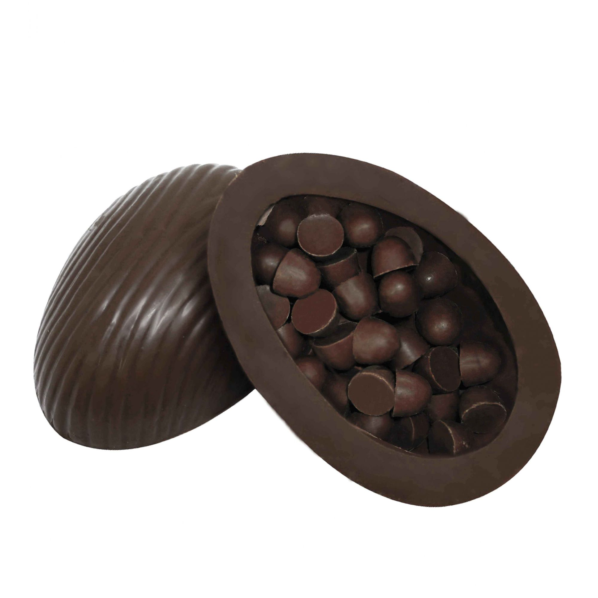 Ovo de Páscoa Chocolate 80% Cacau 150gr / Caixa c/ 12 Unds Borússia Chocolates