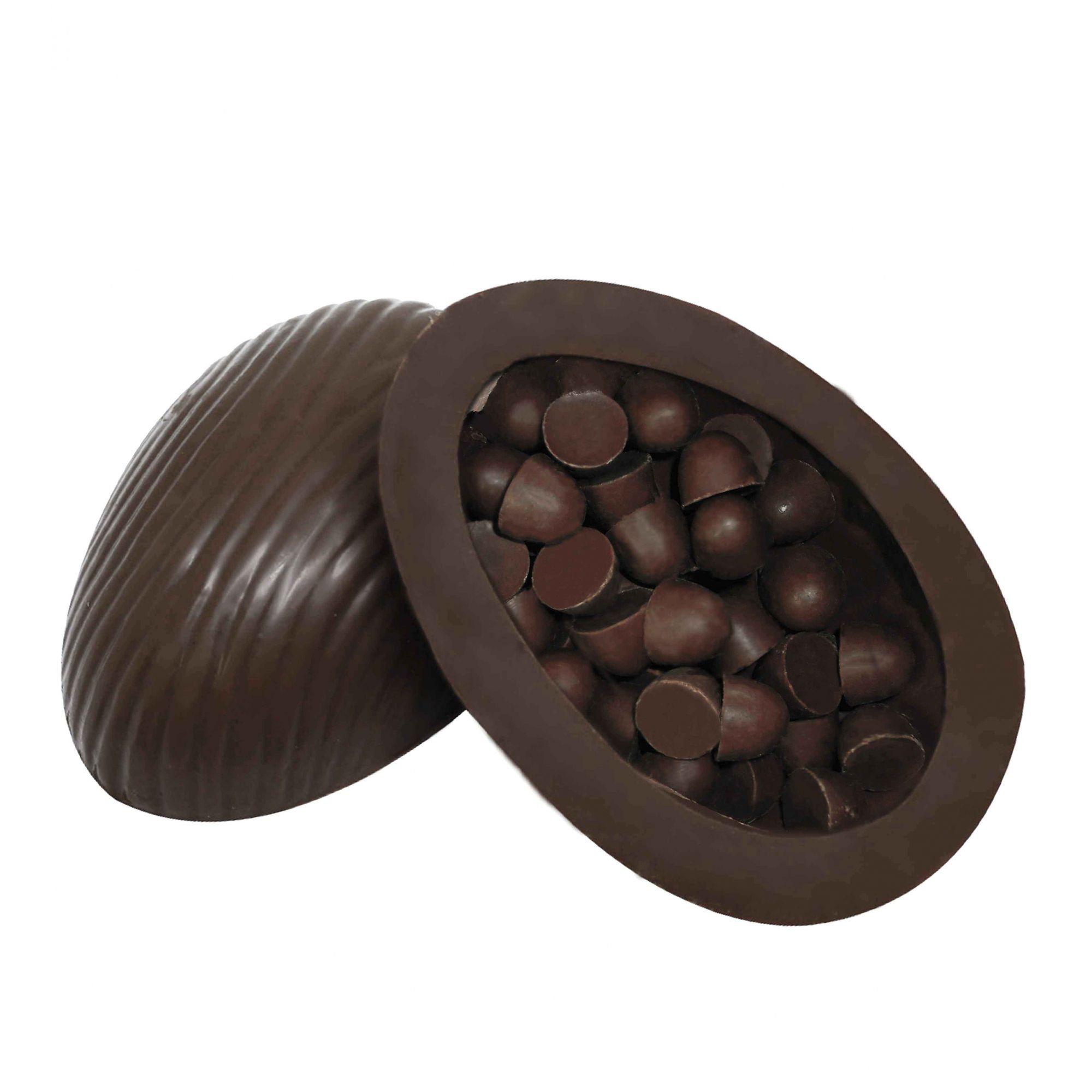 Ovo de Páscoa Chocolate 80% Cacau 150gr Unidade Borússia Chocolates