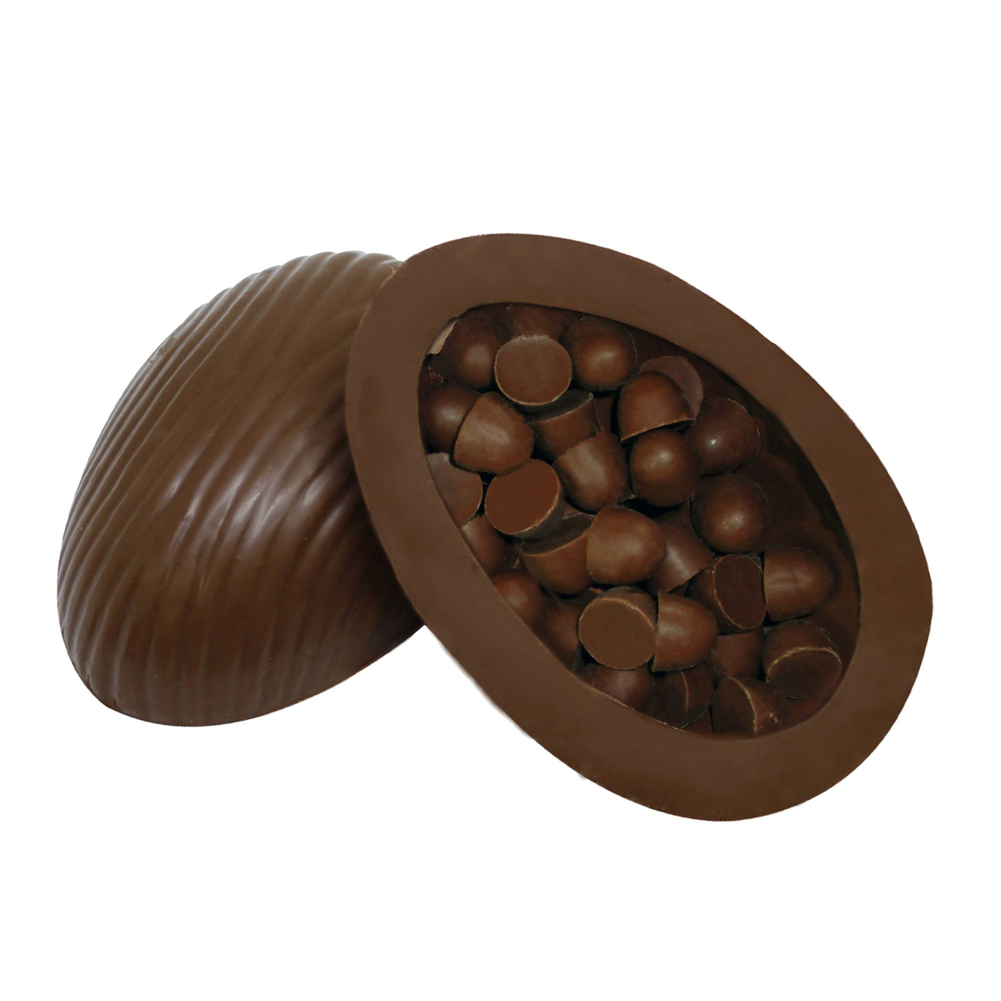 Ovo de Páscoa Chocolate sem Açúcar/ sem Lactose 120gr / Caixa c/ 12 Unds Borússia Chocolates
