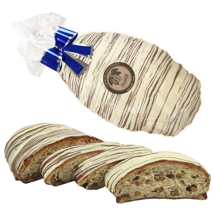 Pão de Natal com Nozes Coberto com Chocolate ao Leite 670g Borússia Chocolates