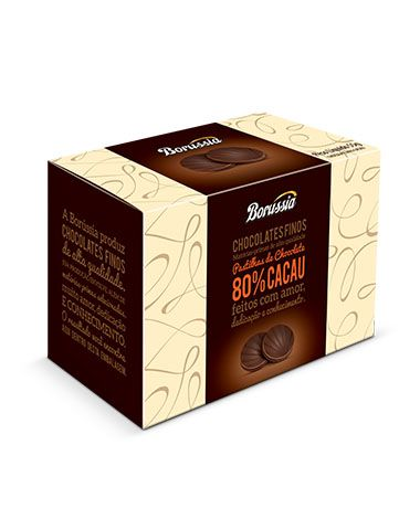 Pastilha de Chocolate 80% Cacau Borússia Chocolates