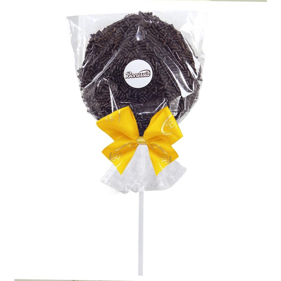 Pirulito de Chocolate ao Leite com Granulado Borússia Chocolates