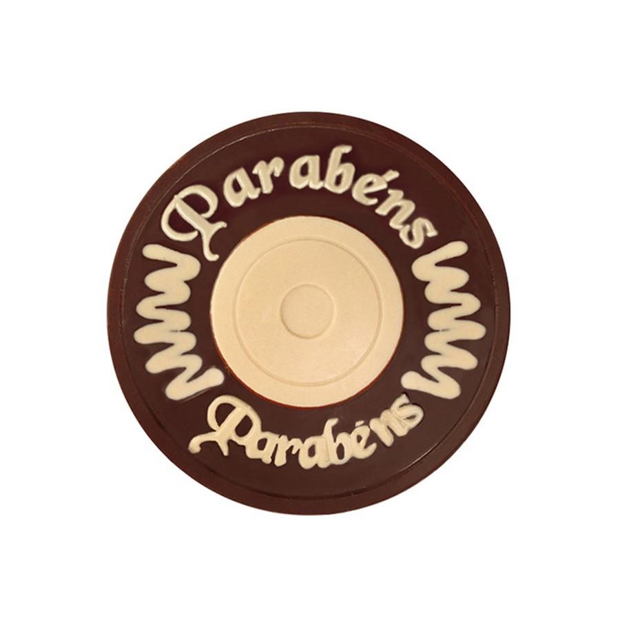 Placa Redonda Parabéns Unidade Borússia Chocolates