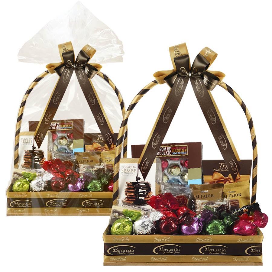 Super Cesta com Chocolates Variados Borússia Chocolates